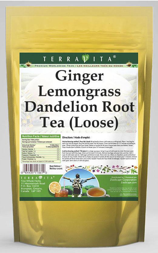 Ginger Lemongrass Dandelion Root Tea (Loose)