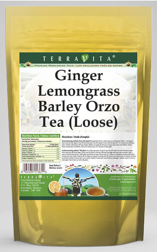 Ginger Lemongrass Barley Orzo Tea (Loose)