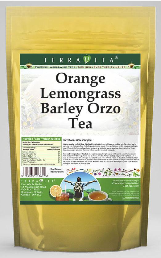 Orange Lemongrass Barley Orzo Tea