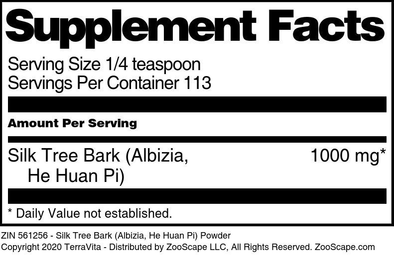 Silk Tree Bark (Albizia, He Huan Pi) Powder