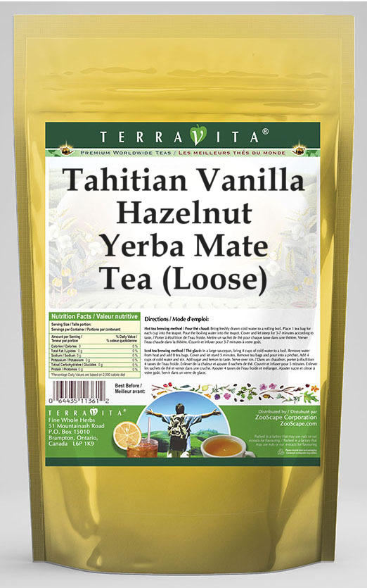 Tahitian Vanilla Hazelnut Yerba Mate Tea (Loose)