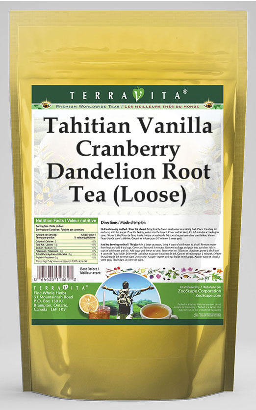 Tahitian Vanilla Cranberry Dandelion Root Tea (Loose)