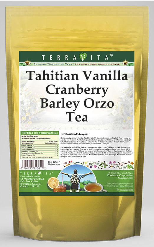 Tahitian Vanilla Cranberry Barley Orzo Tea