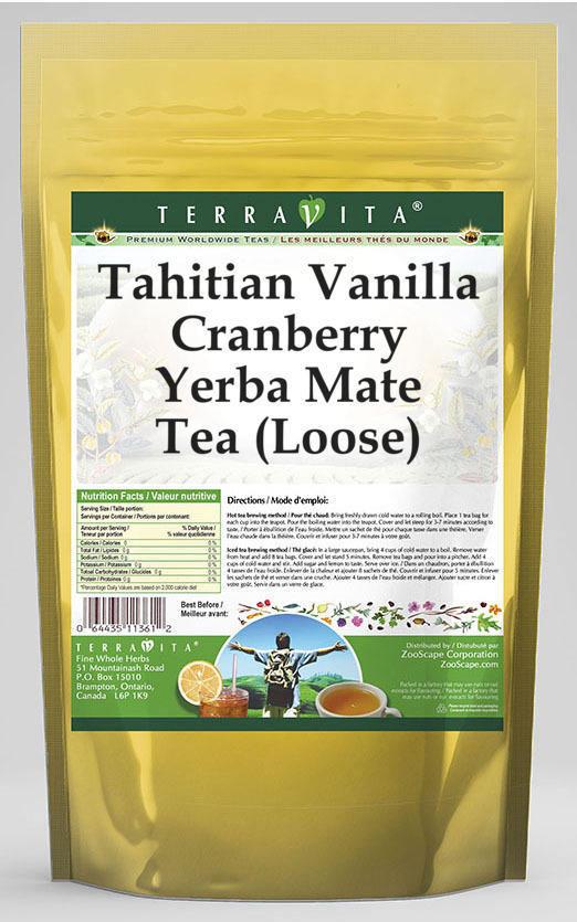Tahitian Vanilla Cranberry Yerba Mate Tea (Loose)