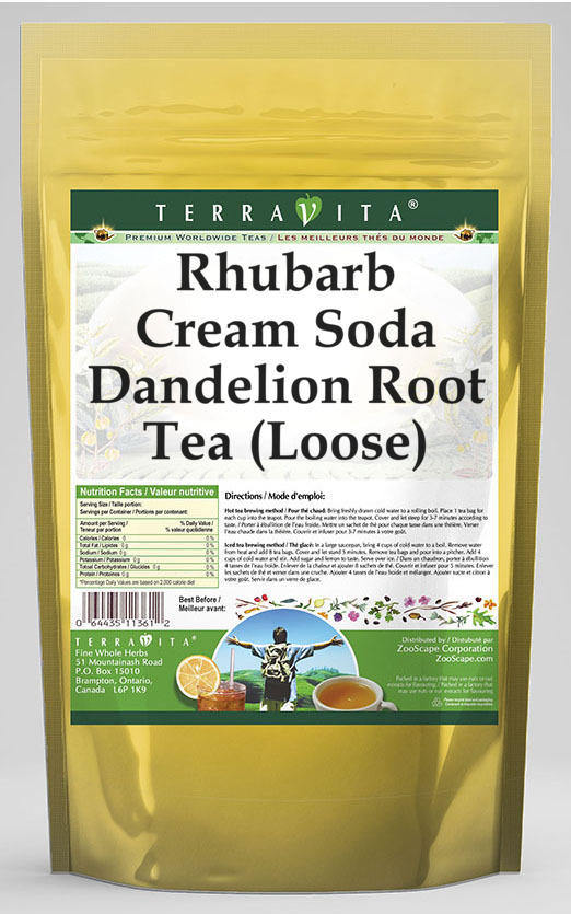 Rhubarb Cream Soda Dandelion Root Tea (Loose)