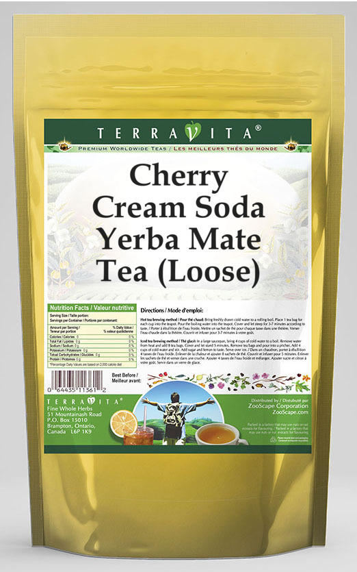 Cherry Cream Soda Yerba Mate Tea (Loose)