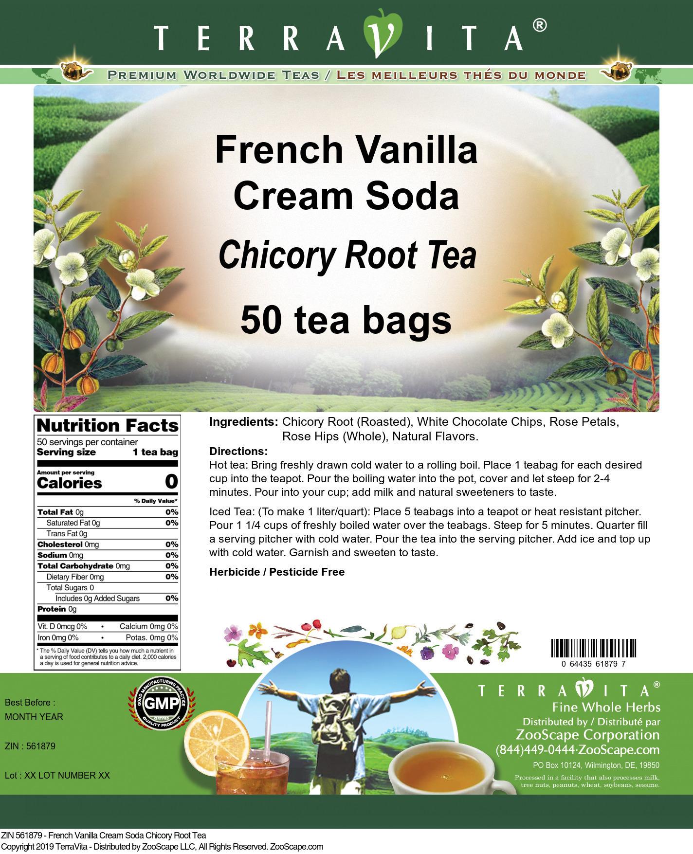 French Vanilla Cream Soda Chicory Root Tea