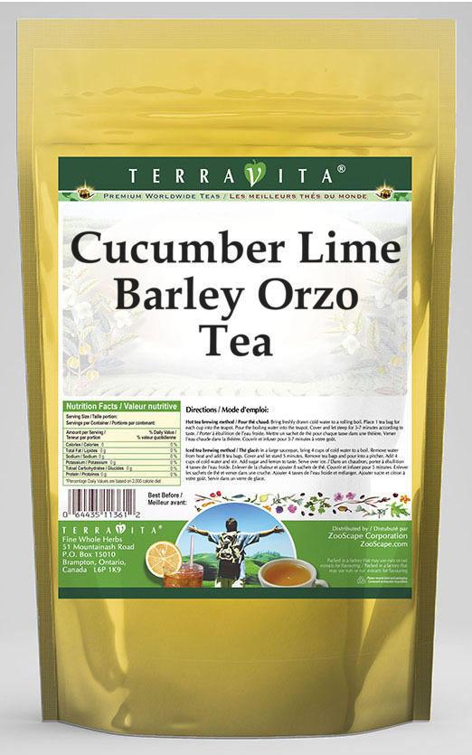 Cucumber Lime Barley Orzo Tea