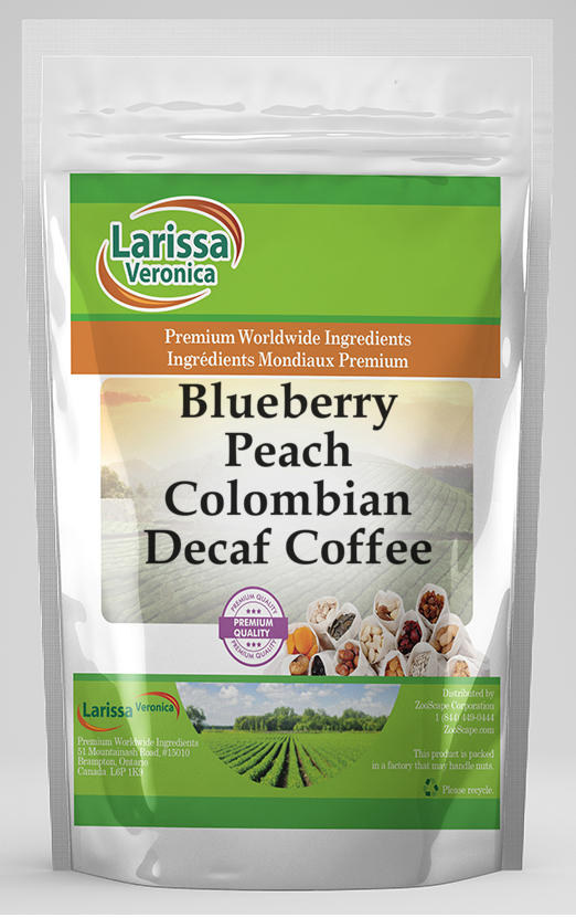 Blueberry Peach Colombian Decaf Coffee