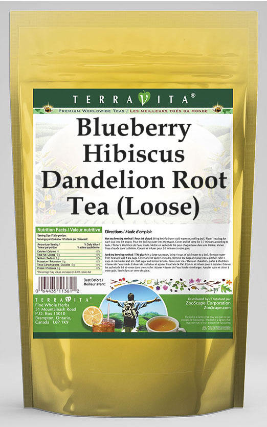 Blueberry Hibiscus Dandelion Root Tea (Loose)
