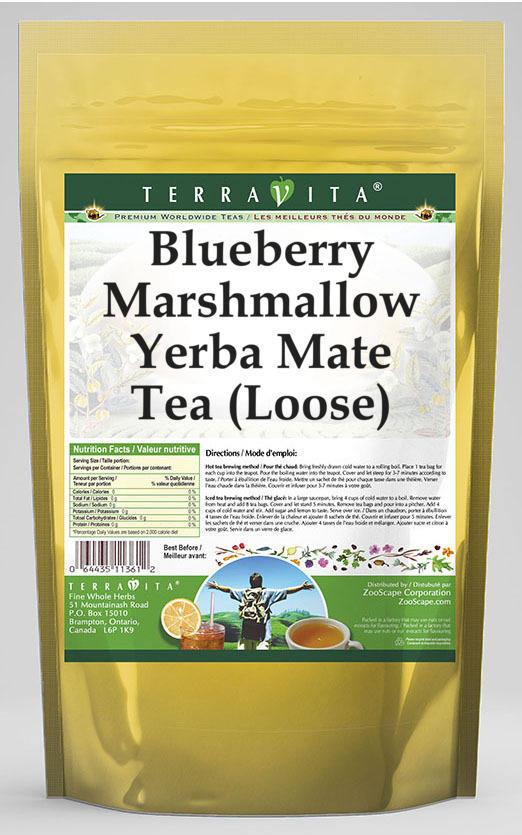 Blueberry Marshmallow Yerba Mate Tea (Loose)