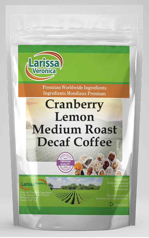 Cranberry Lemon Medium Roast Decaf Coffee
