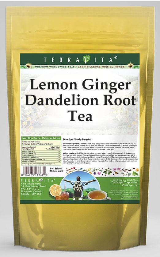 Lemon Ginger Dandelion Root Tea