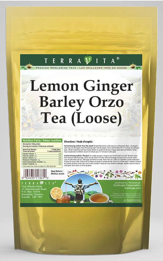 Lemon Ginger Barley Orzo Tea (Loose)