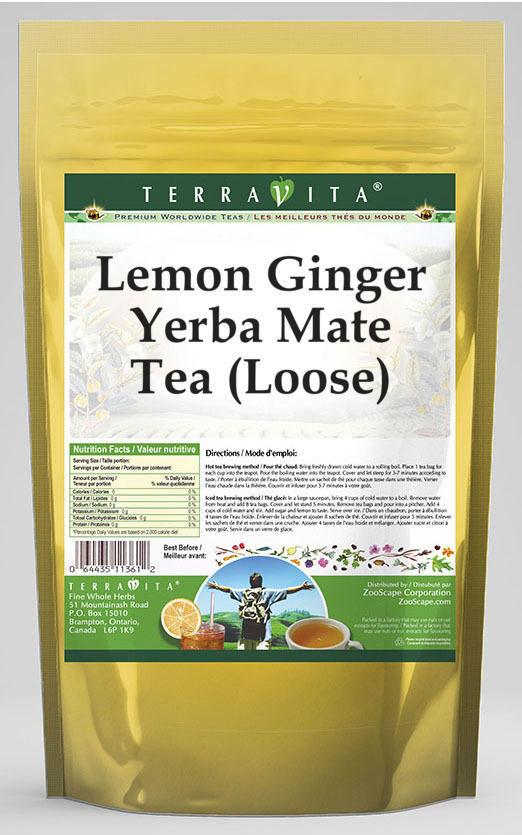 Lemon Ginger Yerba Mate Tea (Loose)
