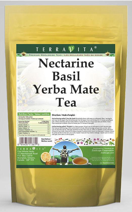 Nectarine Basil Yerba Mate Tea