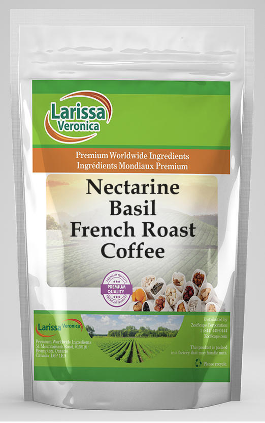 Nectarine Basil French Roast Coffee