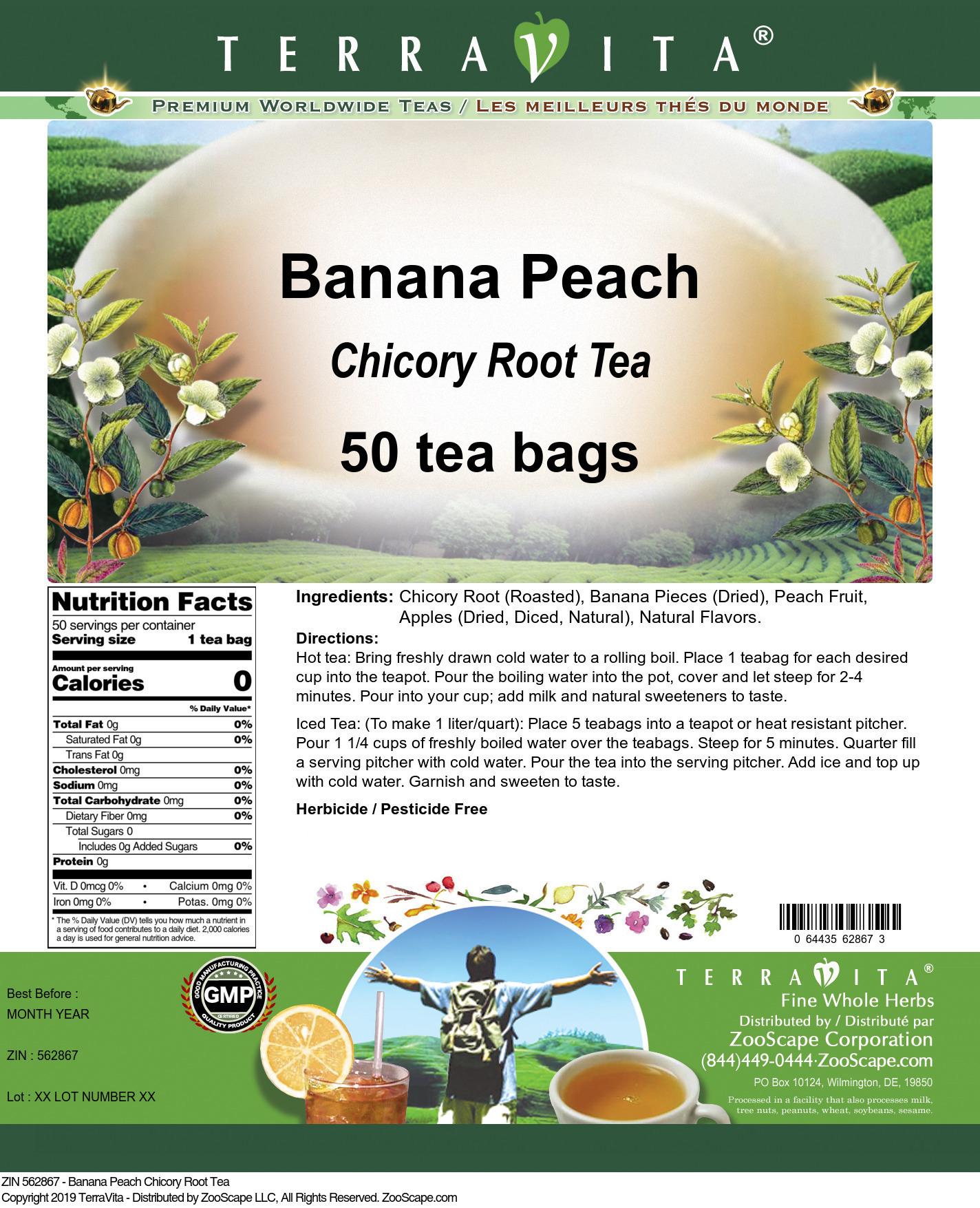 Banana Peach Chicory Root Tea