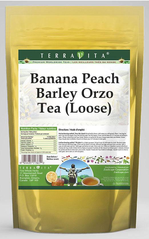 Banana Peach Barley Orzo Tea (Loose)