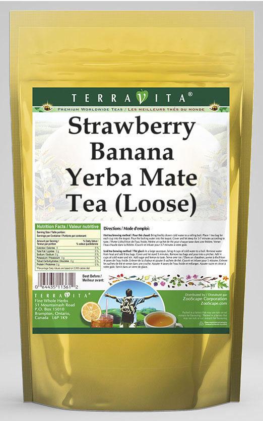 Strawberry Banana Yerba Mate Tea (Loose)