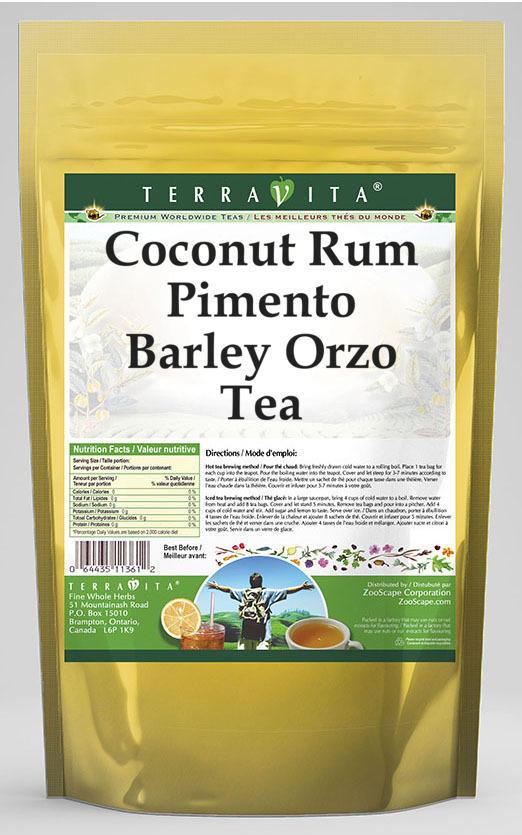 Coconut Rum Pimento Barley Orzo Tea