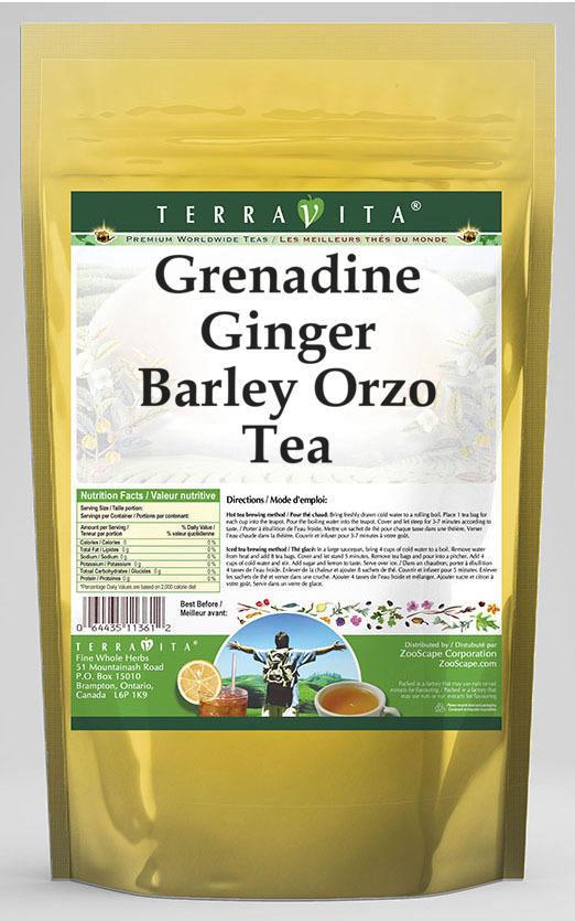 Grenadine Ginger Barley Orzo Tea
