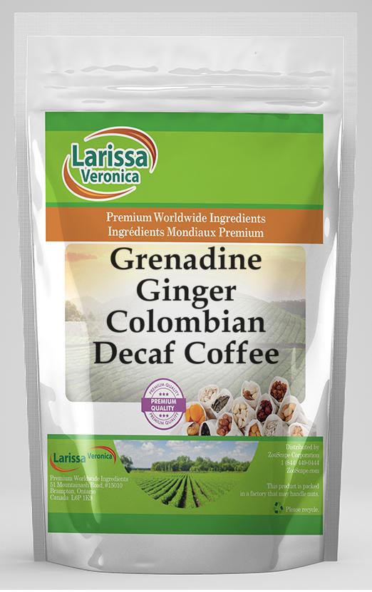 Grenadine Ginger Colombian Decaf Coffee