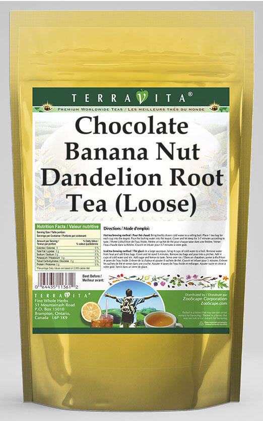 Chocolate Banana Nut Dandelion Root Tea (Loose)