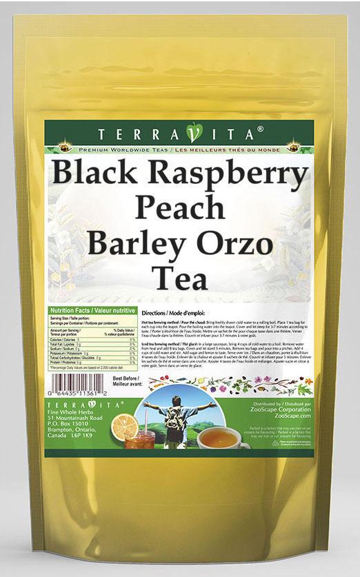 Black Raspberry Peach Barley Orzo Tea