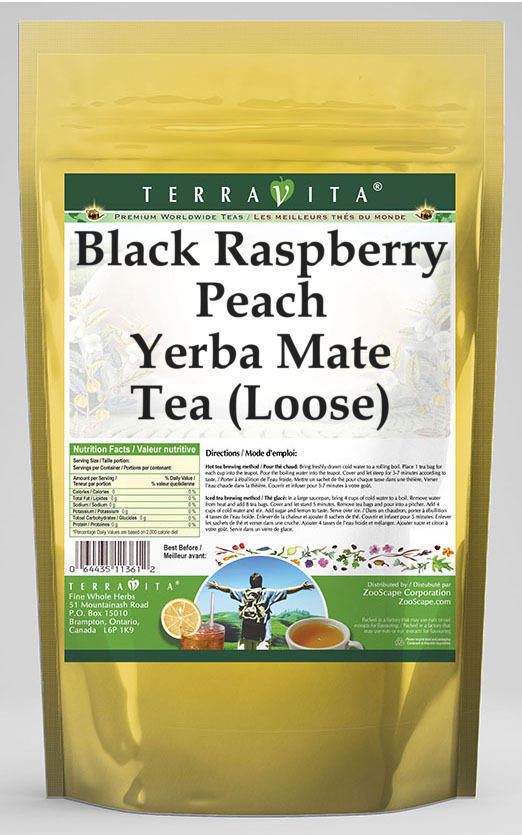 Black Raspberry Peach Yerba Mate Tea (Loose)