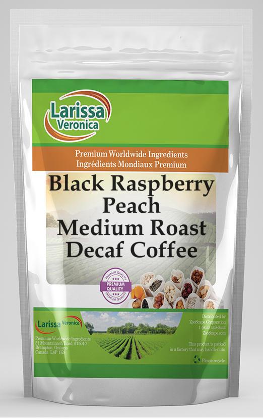 Black Raspberry Peach Medium Roast Decaf Coffee