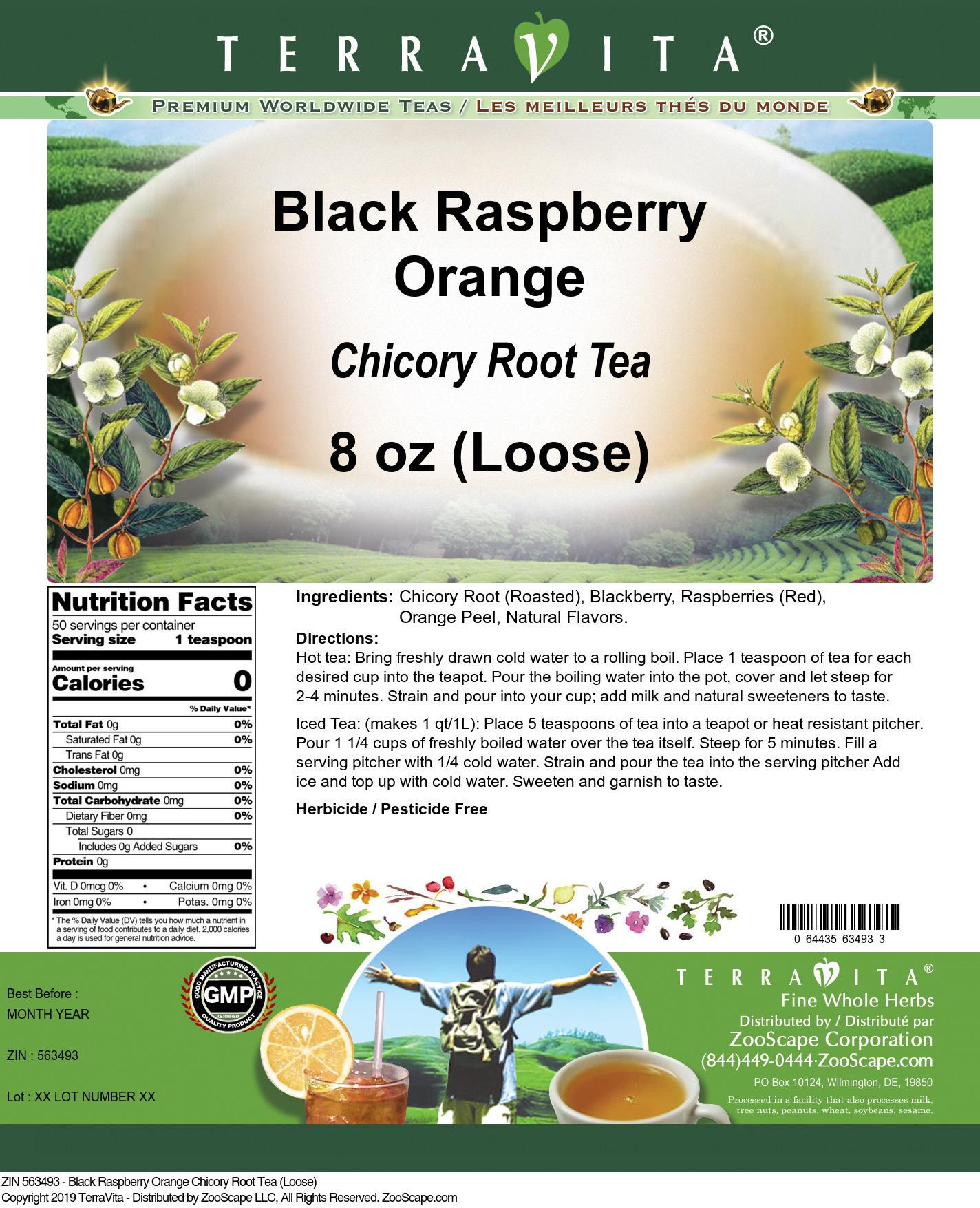Black Raspberry Orange Chicory Root Tea (Loose)