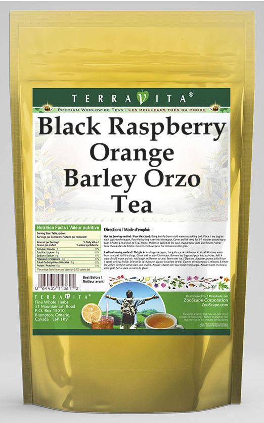 Black Raspberry Orange Barley Orzo Tea