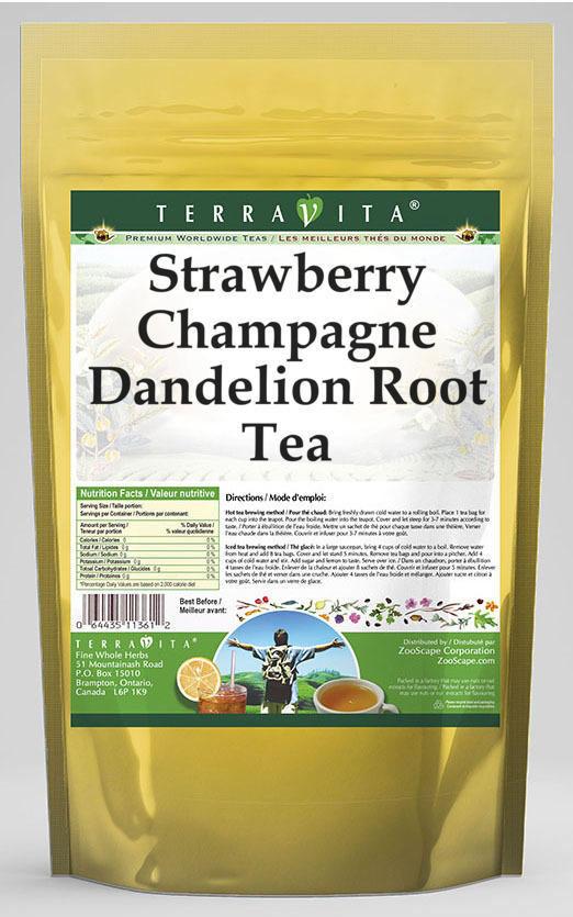 Strawberry Champagne Dandelion Root Tea