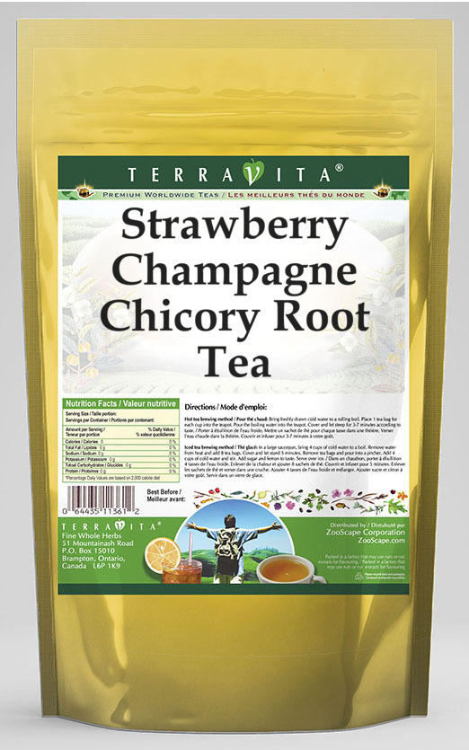 Strawberry Champagne Chicory Root Tea