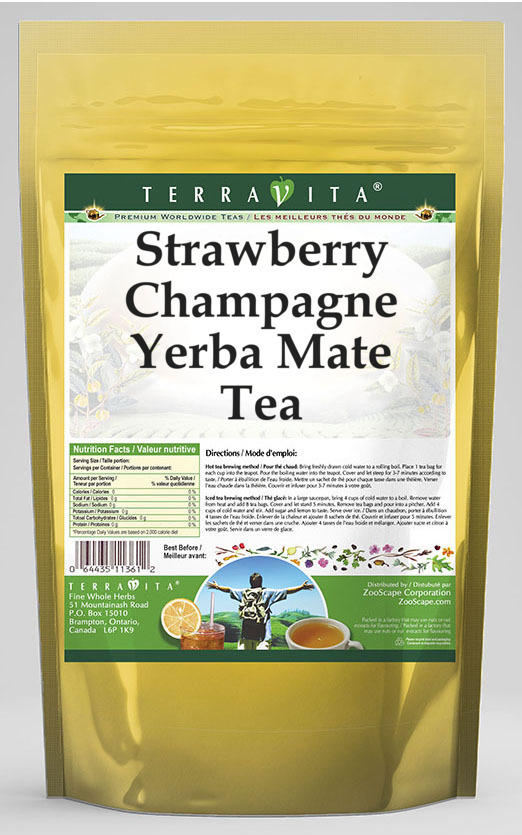 Strawberry Champagne Yerba Mate Tea