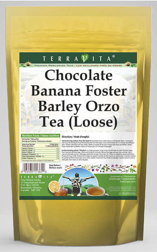 Chocolate Banana Foster Barley Orzo Tea (Loose)
