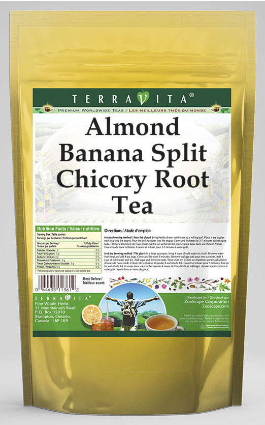 Almond Banana Split Chicory Root Tea