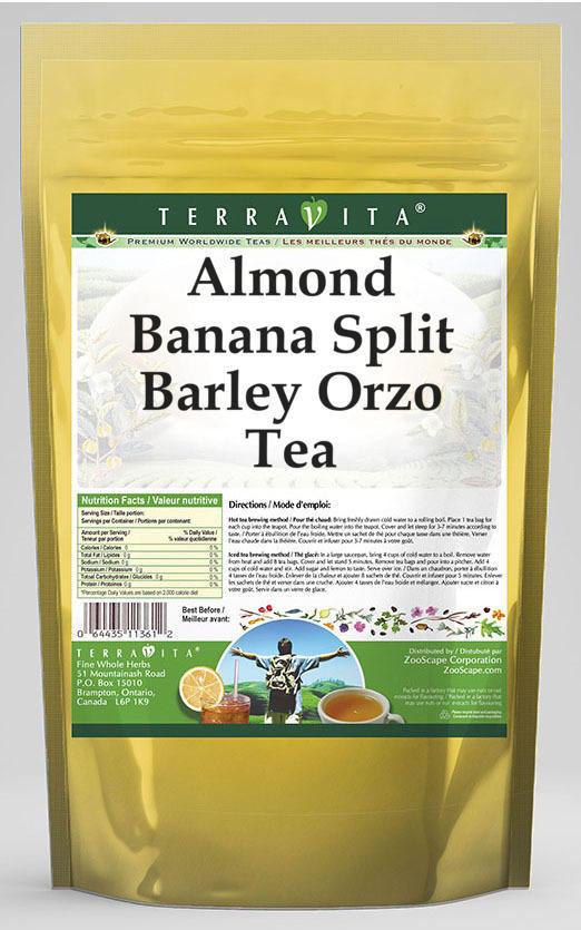 Almond Banana Split Barley Orzo Tea