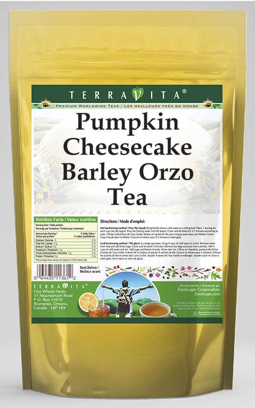 Pumpkin Cheesecake Barley Orzo Tea