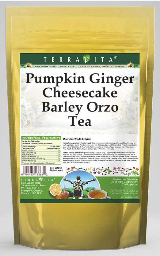 Pumpkin Ginger Cheesecake Barley Orzo Tea