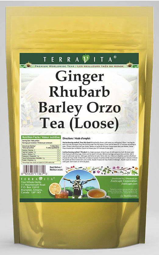 Ginger Rhubarb Barley Orzo Tea (Loose)