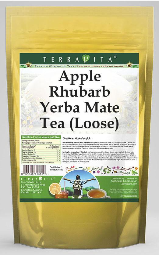 Apple Rhubarb Yerba Mate Tea (Loose)