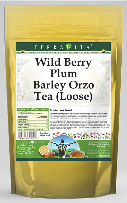 Wild Berry Plum Barley Orzo Tea (Loose)
