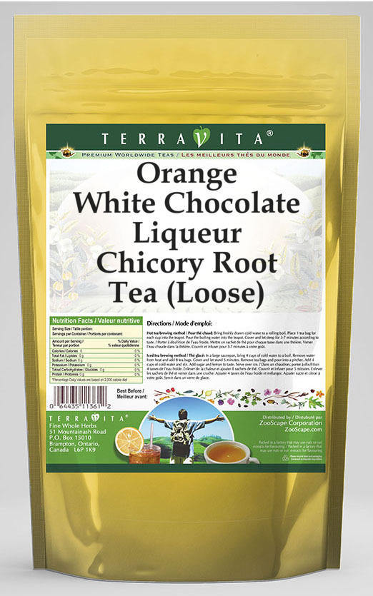 Orange White Chocolate Liqueur Chicory Root Tea (Loose)