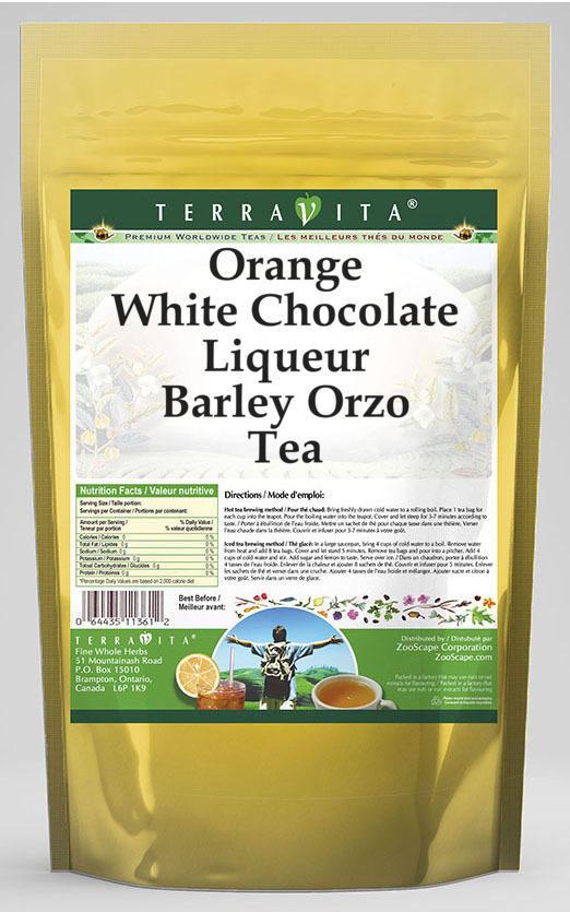Orange White Chocolate Liqueur Barley Orzo Tea