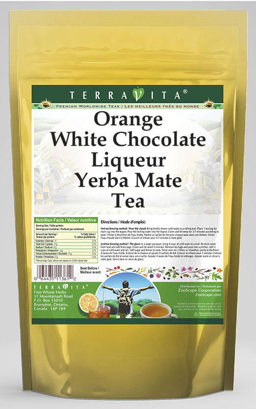 Orange White Chocolate Liqueur Yerba Mate Tea