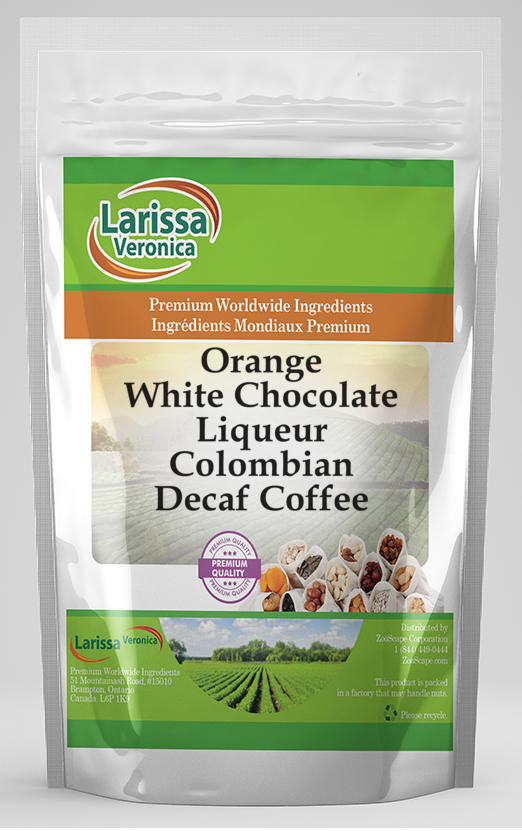 Orange White Chocolate Liqueur Colombian Decaf Coffee