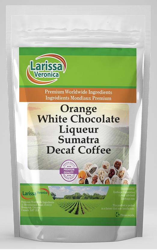 Orange White Chocolate Liqueur Sumatra Decaf Coffee