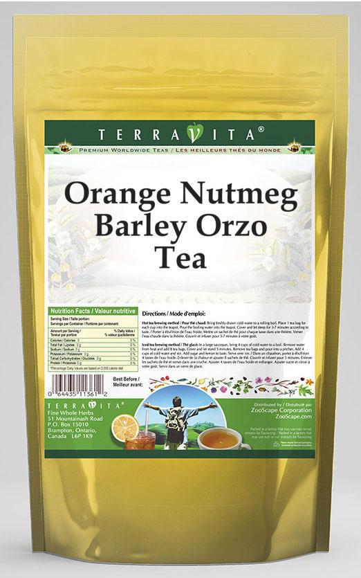Orange Nutmeg Barley Orzo Tea